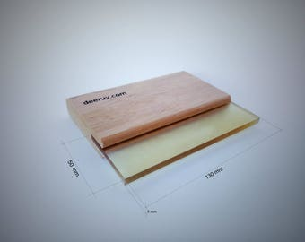 wooden squeegee for screen printing 13 cm/5 inches, for screen printing