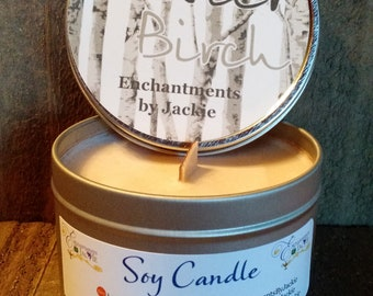 Wooden Wick Soy Candle,  Buster Birch 100% Soy Candle