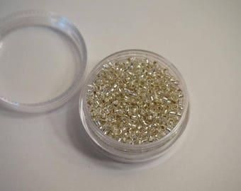 Seed beads - heart grey