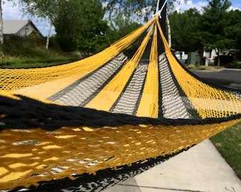 Double size hammock, Hand woven Mexican hammock, 100% cotton