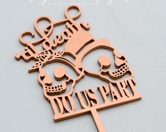 Til Death Do Us Part - Sugar Skull Couple - Cake Topper