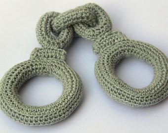Crochet Hand Cuffs for little Policeman