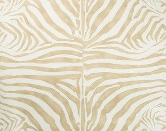 LEE JOFA KRAVET Zebra Cotton Linen Fabric 10 Yards Desert Beige