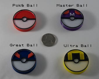 Pokemon Pokeball Magnets, Poke Ball, Great Ball, Master Ball, Ultra Ball, adorable pokemon go birthday gift