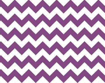 Small Chevron in Purple by Riley Blake