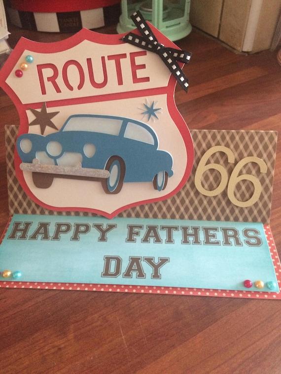 Route 66 Vintage Personalised Birthday Card car birthday