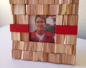 """Rustic Picture Frame """"Red Shingles"""" from RusticAndRawFrames // Picture Frames, Rustic Picture Frames, Rustic Frames, Picture Frame, Frames"""