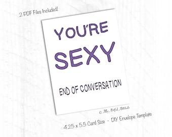 PRINTABLE Card, Galentine's Day, Sexy Valentines Card, Naughty Girlfriend, Boyfriend Birthday Card