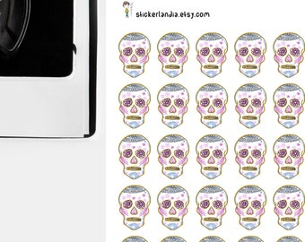 Day of the Dead Stickers, Dia De Los Muertos, Skull Stickers, Mexican Skull Sticker