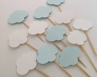 Cloud Cupcake Toppers Set of 12