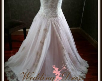 Ivory, Champagne and Blush Wedding Dress