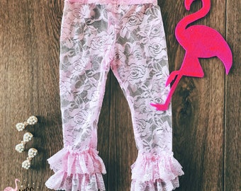 Lace Leggings Toddler, Baby Ruffle Leggings, Ruffle Leggings, Photo Prop, Newborn Baby Clothes, Newborn Photos, Lace Tights, Ruffle Pants