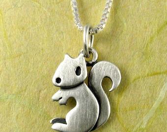 Tiny squirrel necklace / pendant