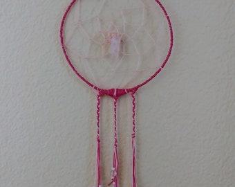 PINK HEART - Rose Quartz Dreamcatcher