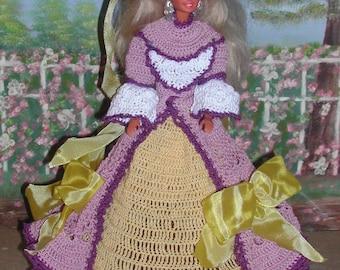 Crochet Fashion Doll Barbie Pattern- #278 BELLE of the SOUTH RACHEL