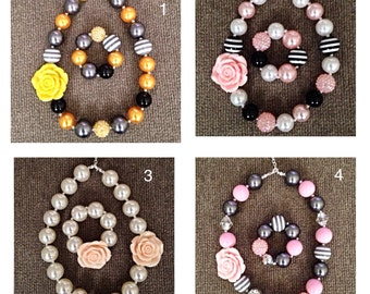 Bubblegum necklace and bracelet sets