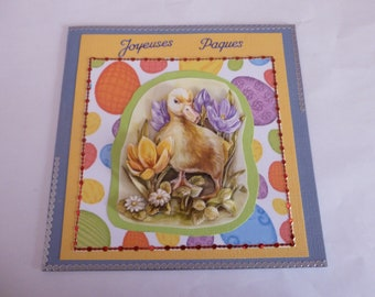 "201871 card for Easter ""duckling"""