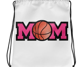 BASKETBALL MOM Drawstring bag
