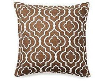 neutral pillows, trellis pillows, decorative pillows, brown pillows, pillow sets, 14 in pillows, pillow covers, home decor, couch pillows