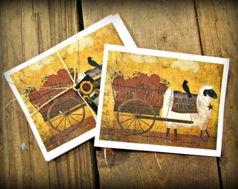 Harvest Sheep Note Cards - FREE SHIPPING