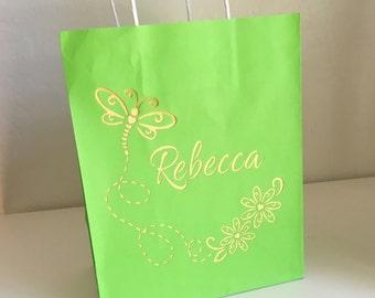 Custom Birthday Dragonfly Gift Bag - Laser Cut