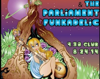 George Clinton and The Parliament Funkadelic concert poster