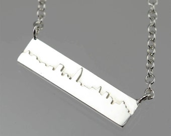"""New York Skyline Necklace in Sterling Silver (16"""")"""