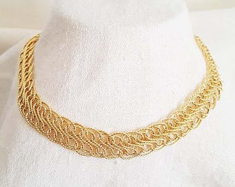 """Vintage 18"""" 14KT Yellow Gold """"S"""" Link Chain Necklace"""