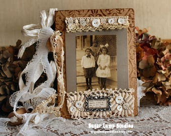 Vintage Bits Chipboard Journal as seen in Somerset Magazines