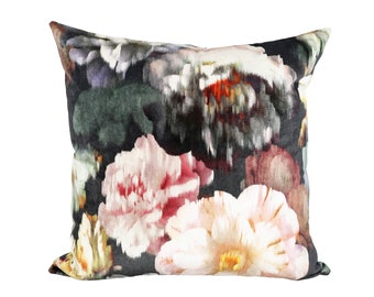 Herbaria velvet designer pillow cover - Made to Order