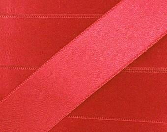 Satin ribbon / Red / 10mm cut 50cm width