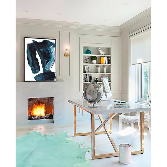 Blue Abstract Printable , Blue Wall Art, Abstract Blue, Blue Art, Abstract print, Blue Decor, Modern Art, Contemporary Art, Digital Prints