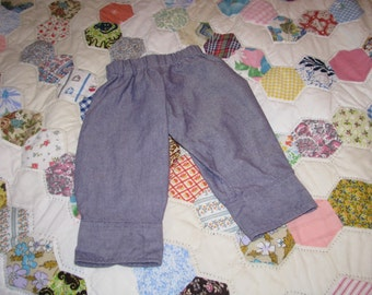 6 to 9 Months Old Baby Sized Pants Made from a Dress Shirt