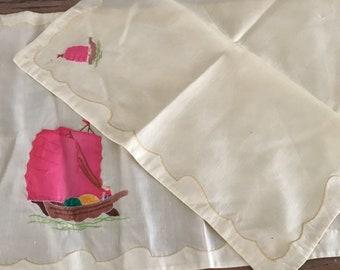 Vintage shabbychic Napkins/ placemat