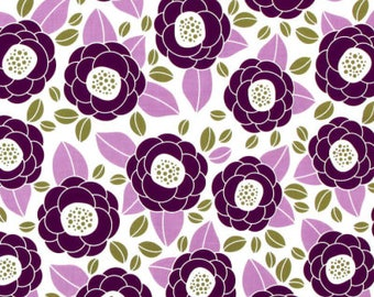 54014-  1/2 yard - Joel Dewberry Aviary 2 Bloom in Lilac  color -