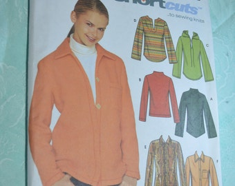 Simplicity 9513  Misses Knit Tops Sewing Pattern - UNCUT - Size 6 8 10 12