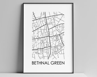 Bethnal Green, London Maps