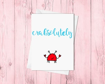 Crabsolutely (hand lettered)