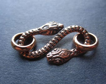 Snake Charmer S-Hook Copper clasp - 26mm X 15mm
