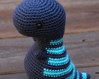 Baby T-Rex, T-Rex Amigurumi Toy, Blue Dinosaur, Crochet T-Rex Dinosaur, Crochet Tyrannosaurus, Plush Toy Dinosaur, T-Rex Dinosaur Plush Doll