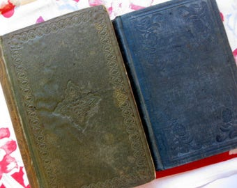 Two Antique Books, Childrens Books, Poor and Proud, Not Rich but Generous, Collectibles, 1847 and 1861