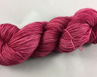 hand dyed sock yarn, fingering weight, 2-ply superwash wool and nylon, colorway GHOST