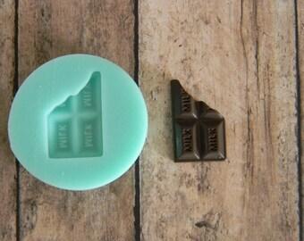 Silicone Flexible Mold - Bitten Milk Chocolate Bar