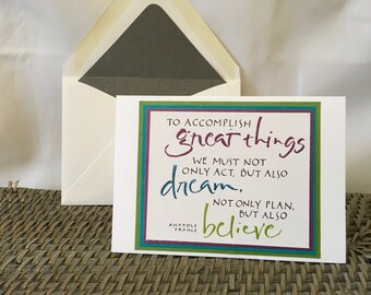 Inspiring Quote Notecard, Blank Inside