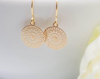 Delicate Earrings Gilded Boho ornaments