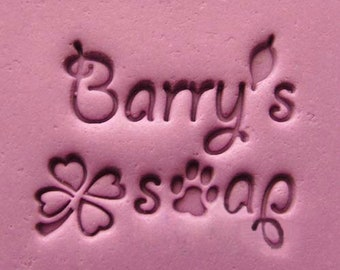 Barry's Soap Dog Footprint Resin Seal Soap Stamp For Handmade Soap Candle Fimo Crafts DIY Chapter Soap