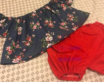 Bloomers/Offshoulder Set
