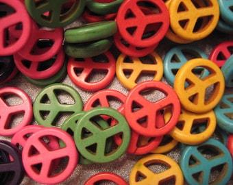 Multi Magnesite Peace Beads 27pcs