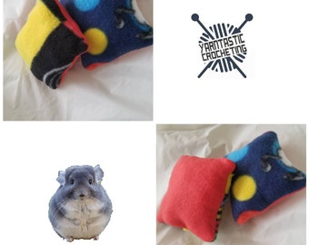 Fleece Chinchilla resting pillow/Hedgehog resting pillow