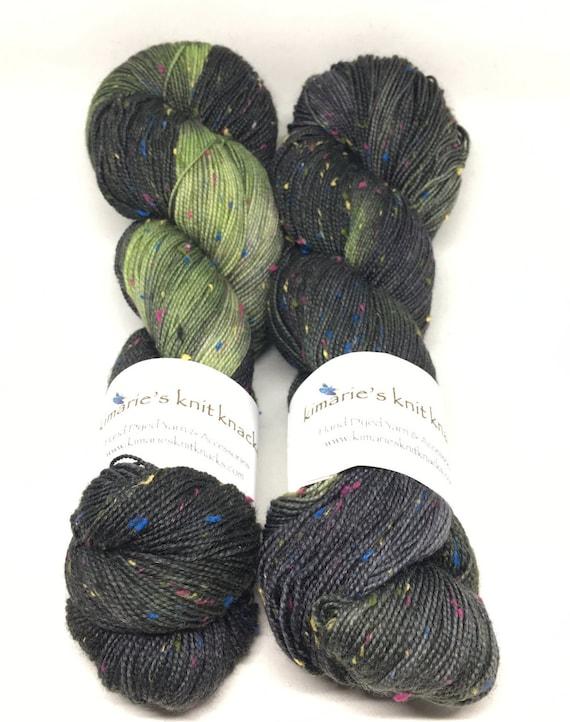 Hand Dyed Superwash Merino Tweed Fingering Yarn_Ross
